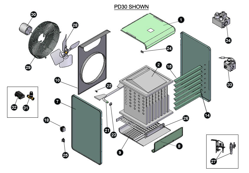 Modine Service Parts Locator on